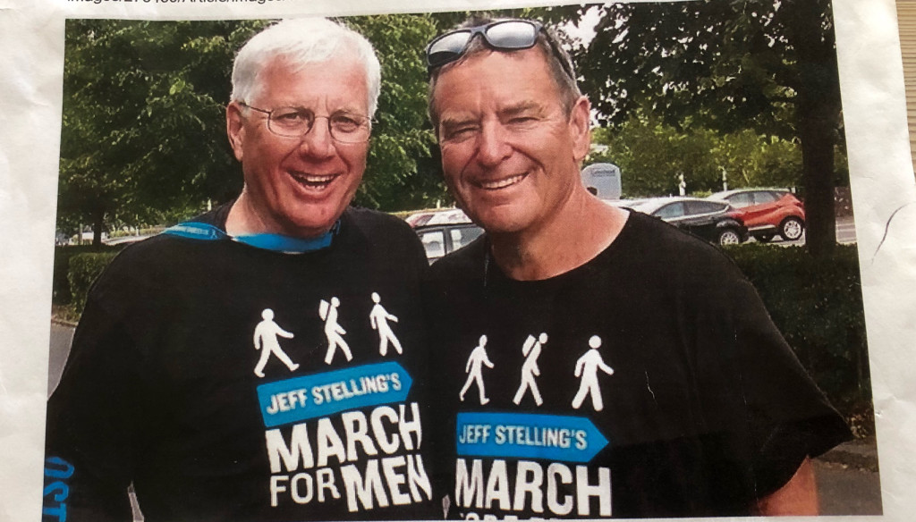 Ron Hedley on the march again for prostate cancer